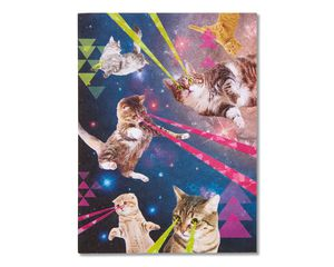 Outer Space Cats Blank Card