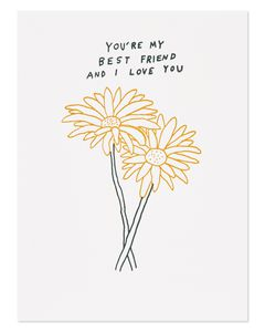 my best friend romantic mother's day card