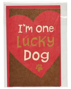Lucky Dog Valentine's Day Card