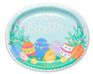 Easter Eggs Dinner Plates, 8-Count