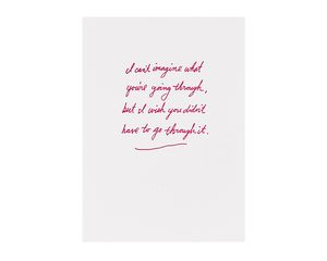 I Can't Imagine Sympathy Card