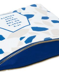 it's what's on the inside that counts zipper pouch