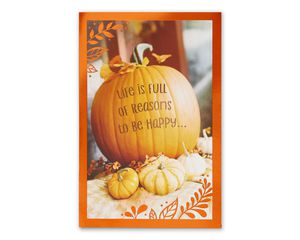 Little Wish Thanksgiving Card with Glitter, 6-Count