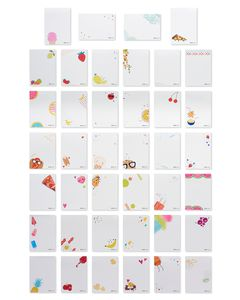 Food Lunch Box Mini Notes, 40-Count