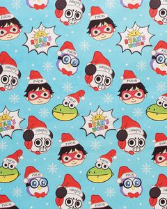 Ryan's World Christmas Wrapping Paper, 40 Total Sq. Ft.