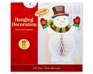 Snowman Honeycomb Hanging Decoration