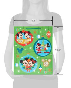 Mickey and Minnie Mouse Caroling Large Christmas Gift Bag