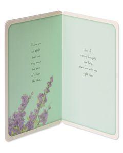 Lavender Sympathy Card