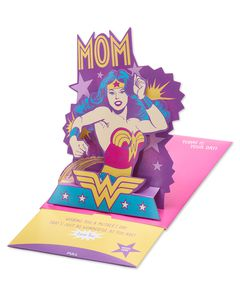 Wonder Woman Mother's Day Card