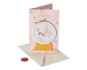 Snow Globe Christmas Card for Mom