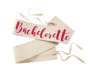 Mud Pie Bachelorette Canvas Wedding Sashes