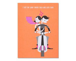 Romantic Cute Tush Birthday Card