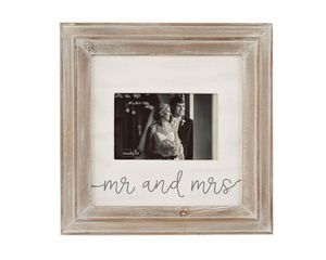 Mud Pie Mr. & Mrs. Small Wood Frame