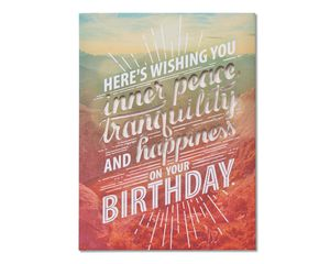 Inner Peace Birthday Card