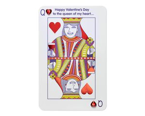 Funny Queen of Hearts Valentine's Day Card for Wife