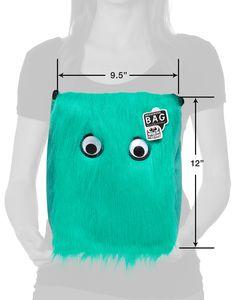 Warm Fuzzy Aqua Messenger Bag