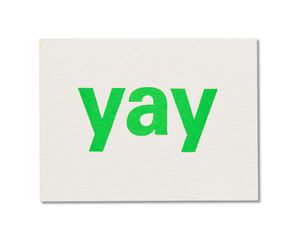 yay congrats card