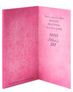 Funny Missy Merlot Mother's Day Card