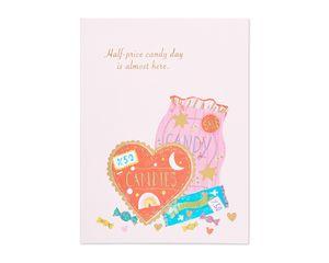 half-price candy valentine's day card