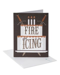 Fire and Ice Birthday Card