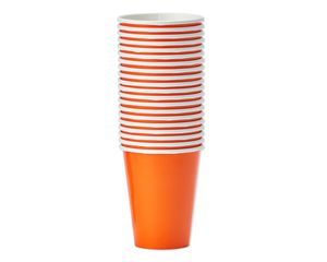 orange paper cups 20 ct