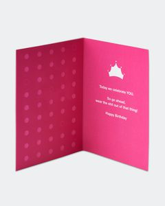 Tiara Birthday Card
