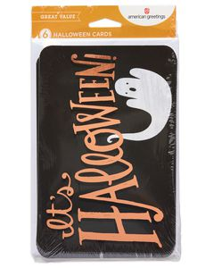 Ghost Halloween Card with Foil, 6-Count