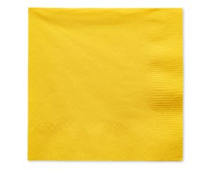 yellow beverage napkins 50 ct