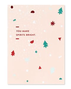you make spirits bright christmas card