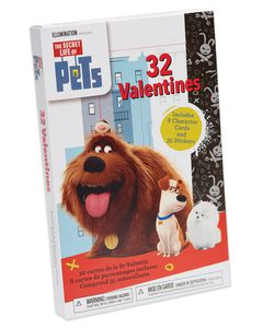 The Secret Life Of Pets Valentine's Day Exchange Cards with Stickers, 32-Count
