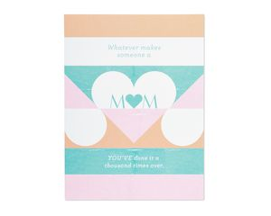 a thousand times over mother's day card