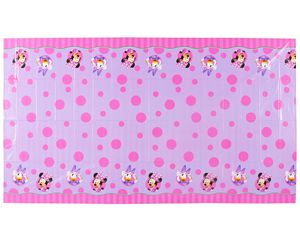 minnie mouse bow-tique plastic table cover 54in x 96in