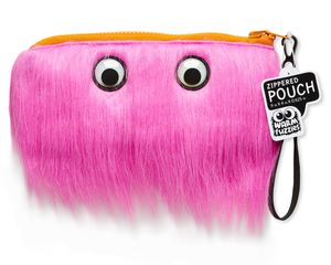 Warm Fuzzy Pink Zippered Pouch