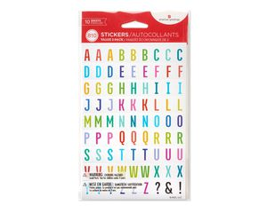 Letters and Numbers Stickers, 810-Count