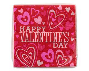 valentine's day lunch napkins, 16 ct