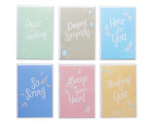 Sympathy Greeting Card Bundle with White Envelopes, 48-Count