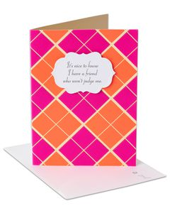 argyle thinking of you card