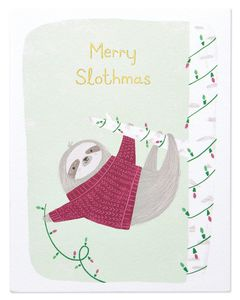 Merry Slothmas Christmas Card