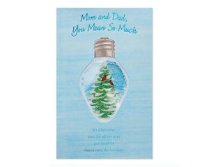Mean So Much Christmas Card for Mom and Dad