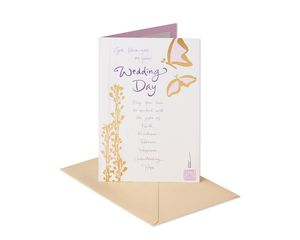 Butterflies Wedding Card