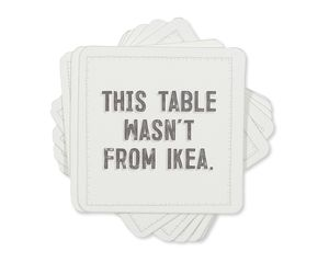 not from ikea coasters (set of 8)