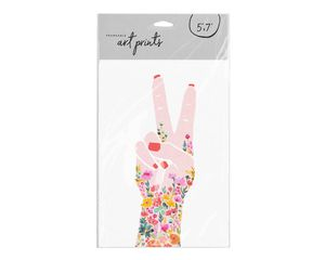 Peace Sign Flowers Frameable Art Print, 5 in. x 7 in.