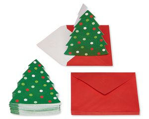 Christmas Tree Note Cards and Envelopes, 25-Count