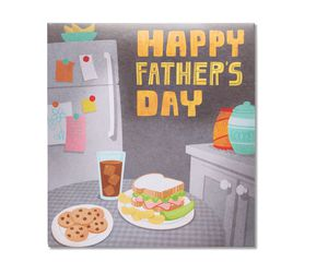 Dancing Food Father's Day Card