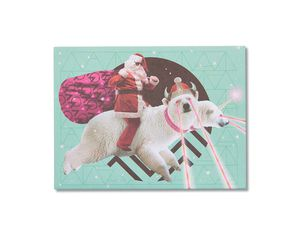 Laser Polar Bear Christmas Card