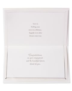 White Floral Engagement Card