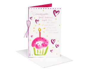 Kathy Davis Cupcake Birthday Card for Granddaughter