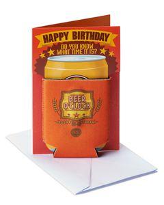 Beer O Clock Birthday Card