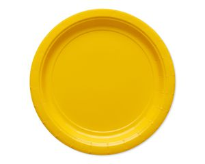 yellow paper dessert plates 20 ct