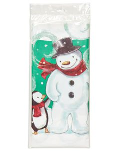 frosty friends plastic tablecover 54in x 102in